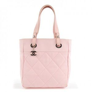 CHANEL Coated Canvas Quilted Small Paris Biarritz